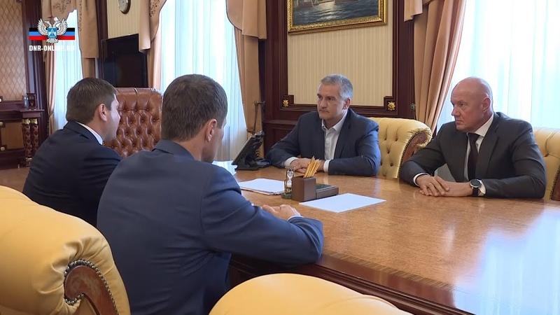 В Крыму Глава Республики Сергей Аксенов провел встречу с Владимиром Антоновым и Сергеем Наумцом