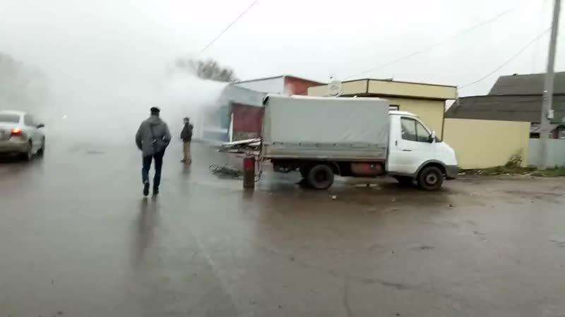 Пожар в киоске на старом базаре, Рузаевка