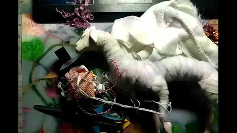 Шьем игрушку, рисуем акварелью, лампово проводим время)