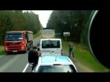 В Польше белорусы выбросили из окна машины мусор на обочину, поляки вернули его им обратно