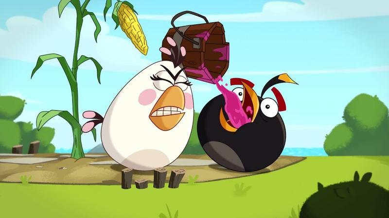 《愤怒的小鸟》第一季第三十七集 保卫玉米 Angry Birds Toons EP37 Clash of Corns