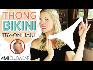 THONG BIKINI TRY ON HAUL | *NEW* Ami Clubwear