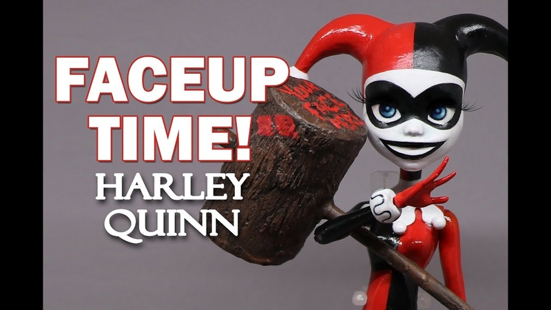 Faceup Time! Harley Quinn Monster High OOAK Custom Doll