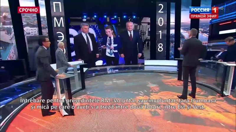 VIDEO. Igor Dodon, ignorat în emisie directă la un post de televiziune rusesc. Iată cum a reacționat președintele