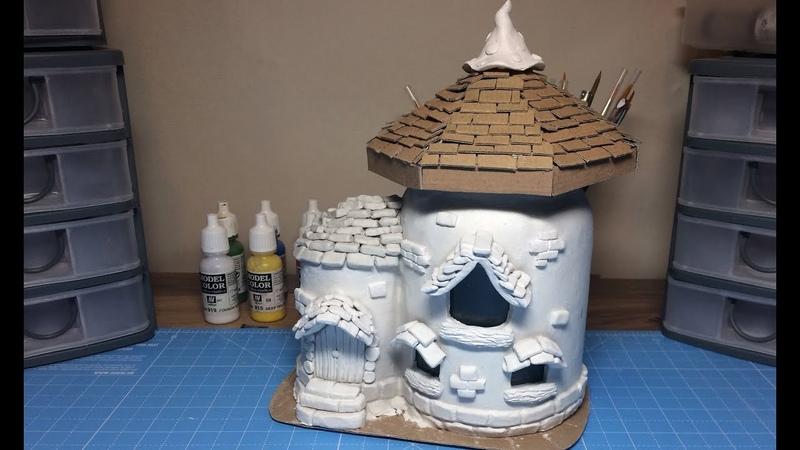 DIY DAS Paper Clay Fairy House Lantern Night Light House Craft Idea Recycle Yankee Candle
