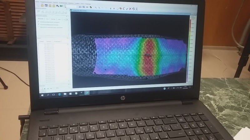 Анализ деформации трубы из углепластика