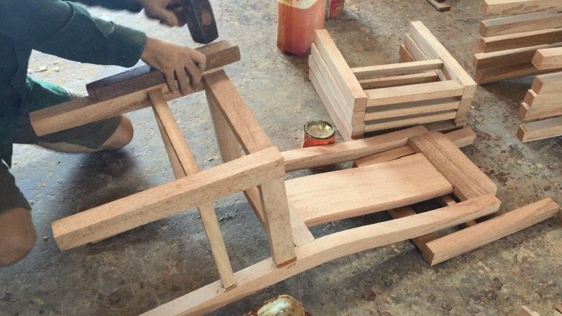 Woodworking Skills Extremely Smart Of Carpenter Building Dining Chair Fastest And Most Beautiful
