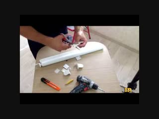 Монтаж рулонных штор, штор-мини. Installation of roller blinds
