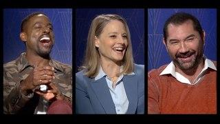 HOTEL ARTEMIS Interviews: Jodie Foster, Sterling K. Brown, Dave Bautista, Charlie Day & more!