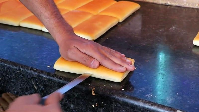 Панини Сэндвич Сливочный Бутерброд с Сыром - Индийская Уличная Еда