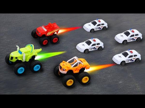 Blaze và Pickle trêu đùa cùng đồ chơi ô tô trẻ em - Tập 06