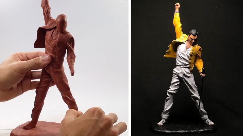 Freddie Mercury Sculpture (Time lapse) | QUEEN