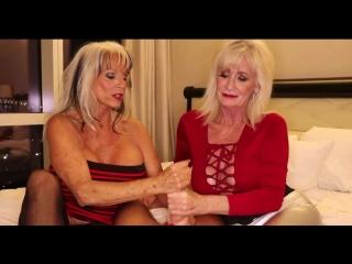 Зрелая мама с бабушкой дрочат член сыну до оргазма, mature mom old granny milk jerk son incest (инцест со зрелыми мамочками 18+)