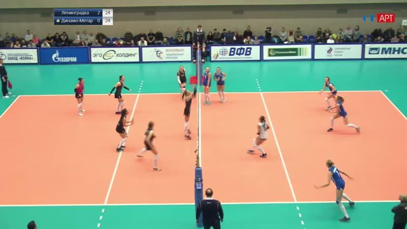 Волейбол Женщины Суперлига Ленинградка - Метар 02_12_2018