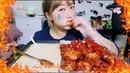 Corn Cheese Fondue Blazin' Spicy Wings Challenge(?) Mukbang!!| KEEMI★