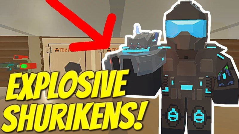 WE FOUND EXPLOSIVE SHURIKENS IN A RAIDED BASE! - Modded Unturned 53