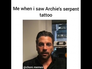Reaction to Archie's serpent tattoo