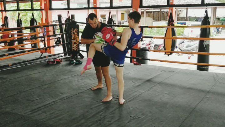 Pad work with Aik Begyan