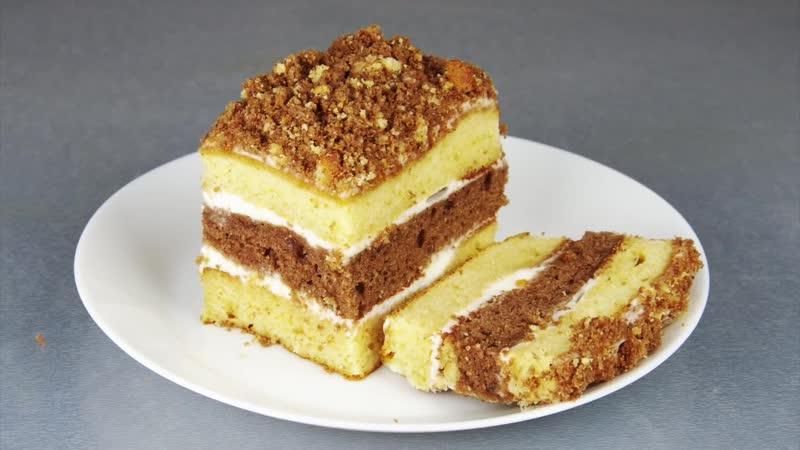 Торт со сгущенкой за 30 минут.