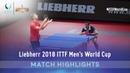 Vladimir Samsonov vs Hugo Calderano I 2018 ITTF Mens World Cup Highlights Group