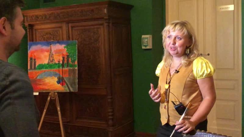 Фрагмент интервью телеканалу ТВ-Центр (Ирина Евдокимова, художник, арт-терапевт)