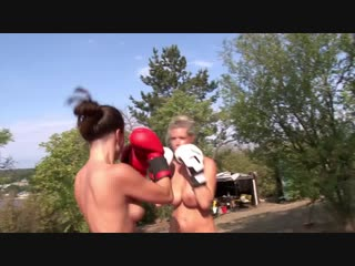 Nude boxing! eva vs vera - fighting dolls - [fd2938] - sample
