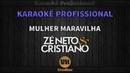 Zé Neto e Cristiano MULHER MARAVILHA Karaokê Profissional Versão Vithor Hugo Studios