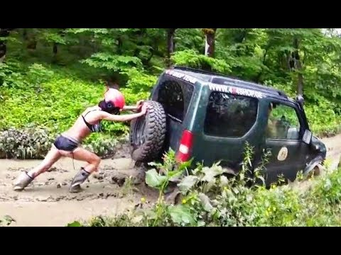 4x4 Extreme Girls Stuck in Mud Off road Race Best One Fun Day 2018
