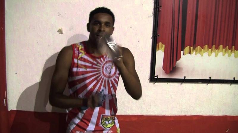 Jeferson playing Tamborim