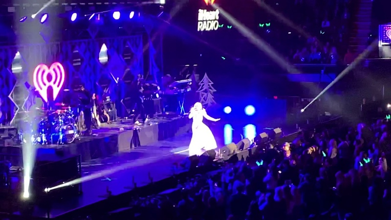Bebe Rexha performing 'Me Myself i' 'i'm a mess'at Jingle Ball concert in Los Angeles Nov 30 2018