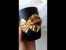 Кружка с золотой рыбкой ручной работы