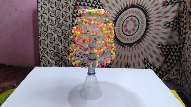 Empty Plastic Bottle Vase Making Craft, Water Bottle Recycle Flower Vase Art Decoration