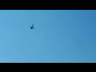 Военные вертолеты над Балахтой