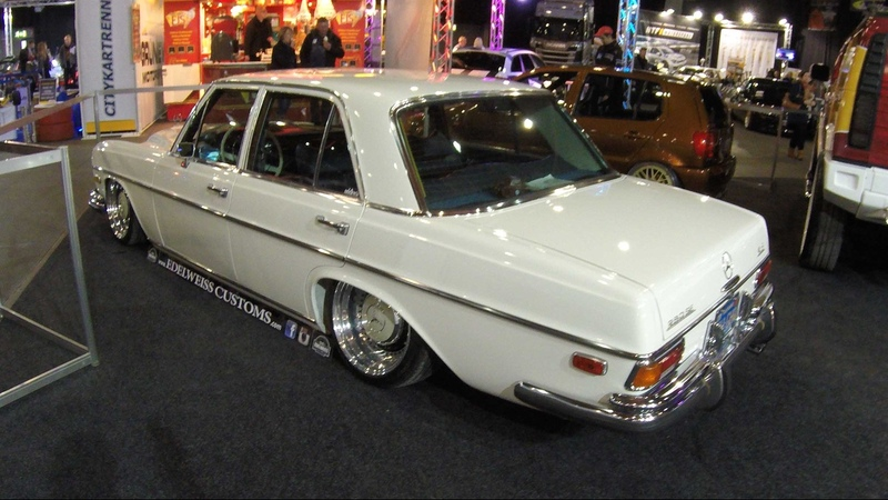 MERCEDES BENZ 280 SE W108 4,5 V8 !! WHITE COLOUR !! WALKAROUND !! LOWERED CAR !!