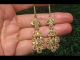 GIA Certified Natural Multi Fancy Color Diamond 18k Yellow Gold Cocktail Earrings - C364