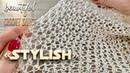 Вяжем узор крючком STYLISH для джемпера 🌟 Beautiful Crochet Stitch Pattern