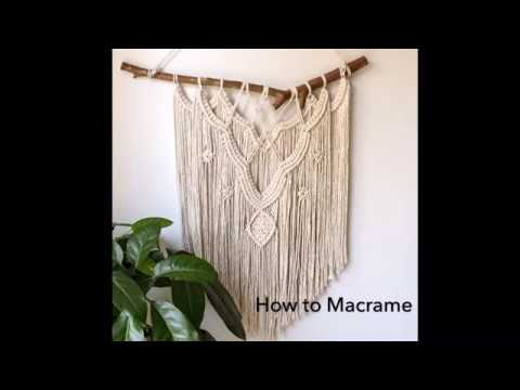 How to macrame wall hanging 3|| Step by Step Tutorial|| By TNARTNCRAFTS