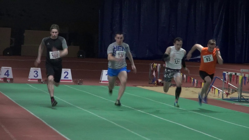 Спринт 60 метров мужчины - 7 забег - 14-18 марта 2019 Калуга