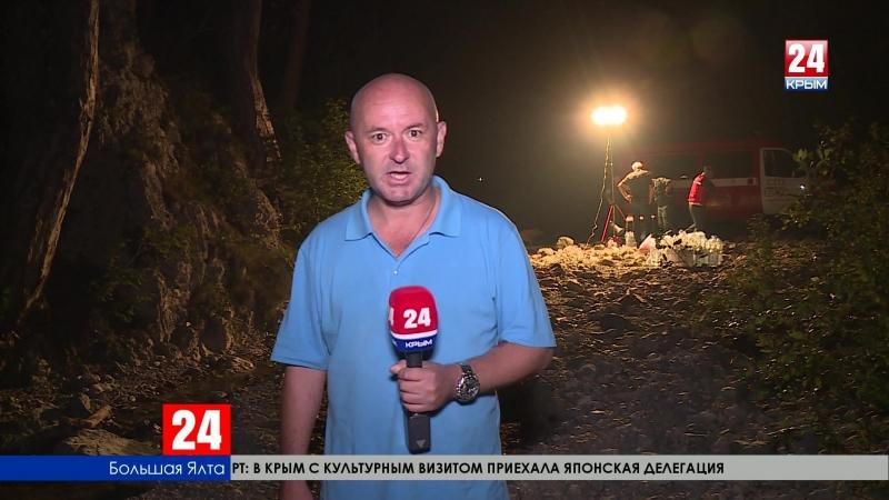 Жители Ялты и близлежащих посёлков объединились против лесного пожара в Ялтинском горно-лесном заповеднике