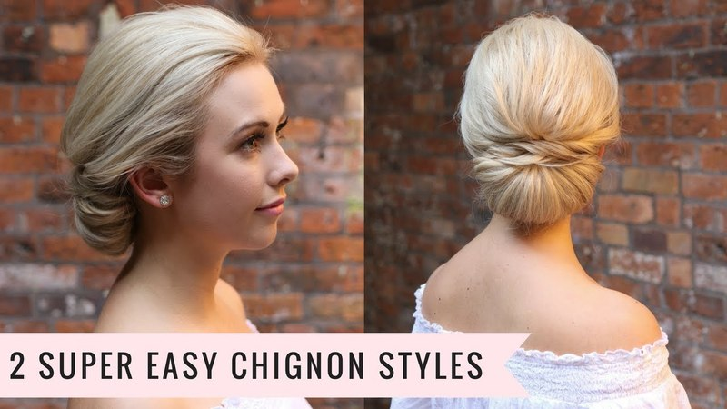 2 Super Easy Chignon Styles by SweetHearts Hair