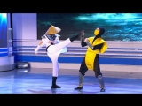 [Официальный канал КВН] КВН Москва не сразу строилась  - Девушка впервые играет в Mortal Kombat