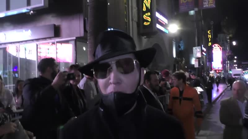 Marilyn Manson discusses the state of rock after the premiere of Halloween at TC