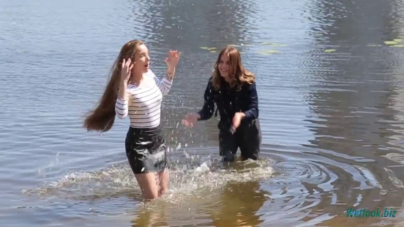 Group wetlook set 9/2018 - NEW HOT GIRLS - - Nastya and Kira