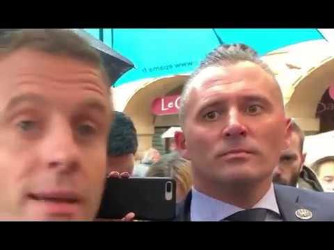 Lincroyable Garde du Corps de Macron qui Renifle le 17 Novembre de Très Loin