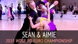 Sean Smullen &amp Aimie Leak Медленный фокстрот 2018 WDSF PD Чемпионат Европы - Четвертьфинал