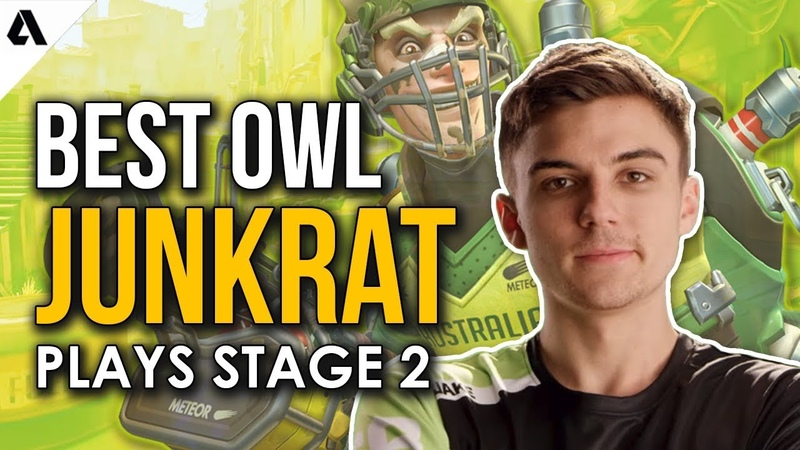 Best Overwatch League Junkrat Plays | OWL Stage 2 ft. Jake Hydration SoOn more!