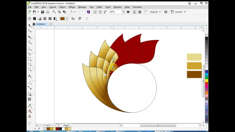 Best golden logo design coreldraw tutorial 17