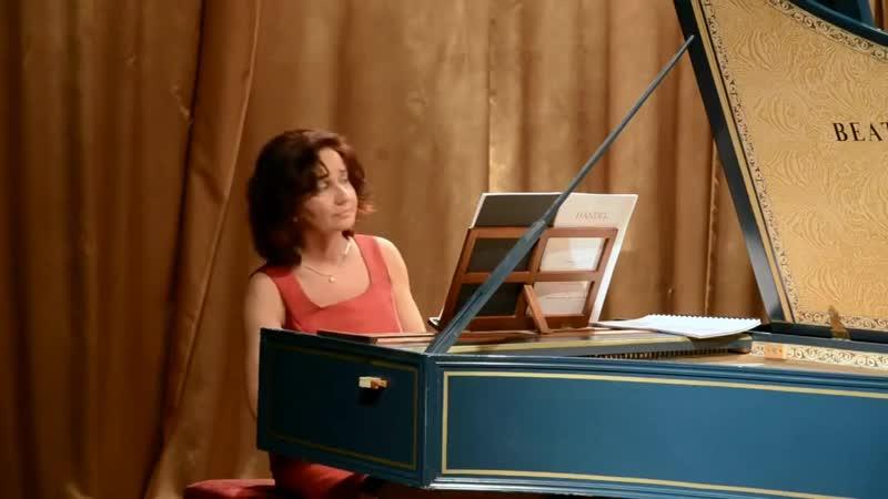 G. F. Händel - Keyboard Partita in G major, HWV 450 - Ágnes Várallyay harpsichord