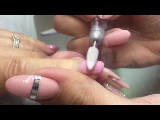 Снятие гель-лака керамической фрезой