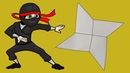Как сделать сюрикен из бумаги. Как сделать звездочку ниндзя